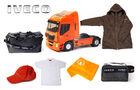 """5 x ein Modell des neuen Iveco Stralis als Sattelzugmaschine im Maßstab 1:43 von Eligor, 1 x ein hochwertiges, exklusives """"Truck Of The Year-Fahrerpaket"""" bestehend aus einer Wellensteyn Winterjacke, Reisetasche, Kulturtasche, Handtuch, Polo-Shirt und Cap."""