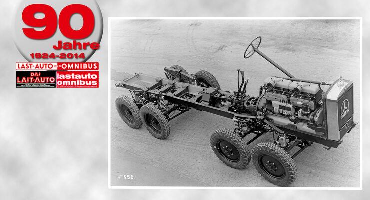 90 Jahre lastauto omnibus, Schwimmfähiger Vierachser MTw 1