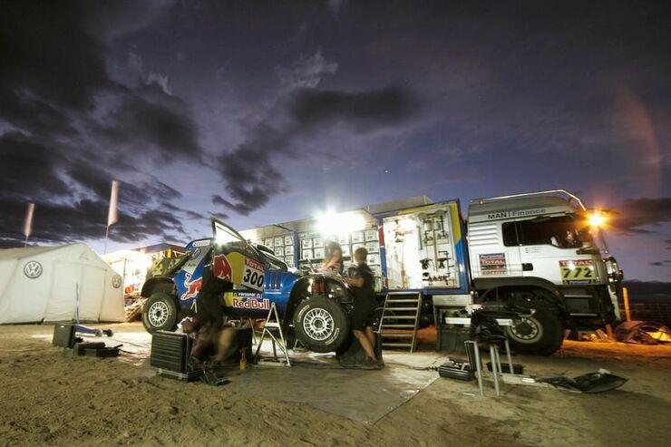 Abenteuer, Rallye Dakar, Lager