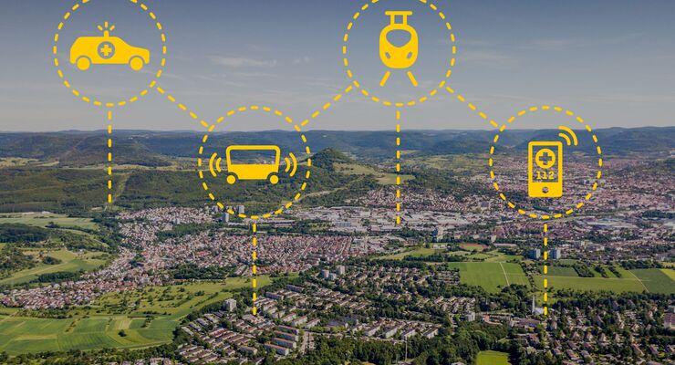 Aerial View over Reutlingen Swabian Alb Germany