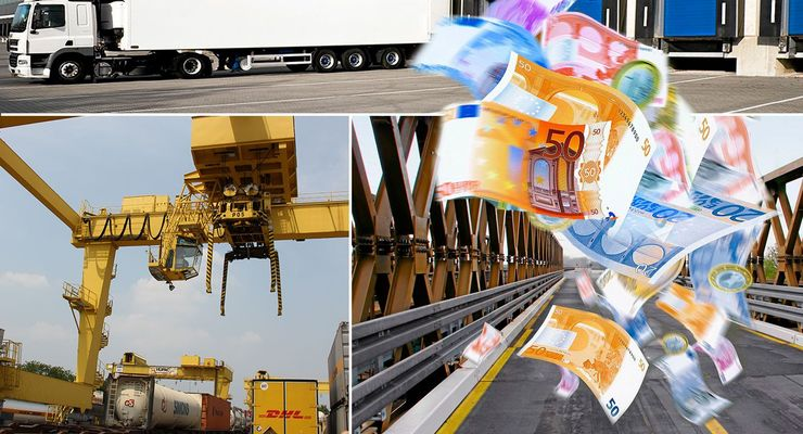 Aktionsplan Güterverkehr, Brücke, Geld, Rampe