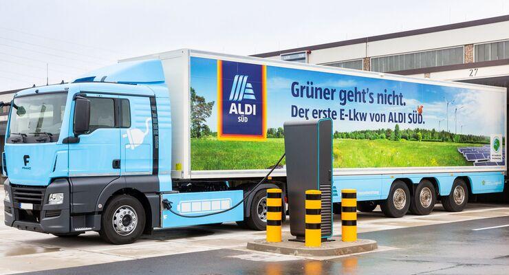 Aldi Süd, Elektro-Sattelzug mit Kühlung