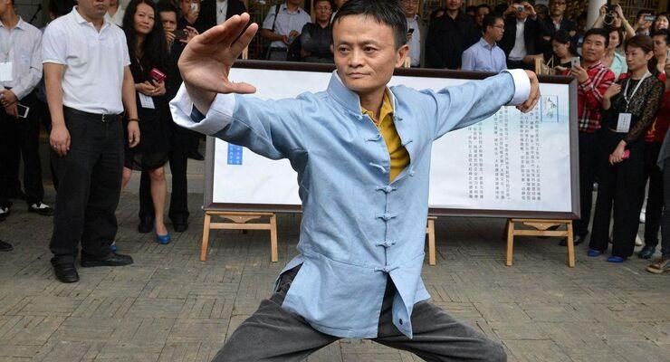 Alibaba-Chef Jack Ma beim Tai Chi