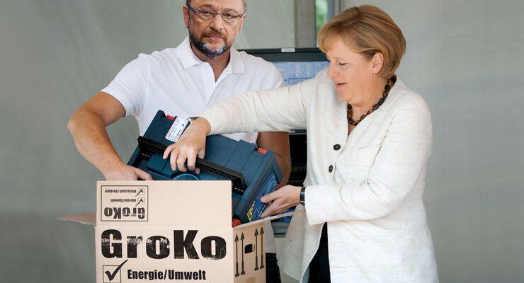 Angela Merkel, Martin Schulz, Sondierung, Große Koalition, GroKo