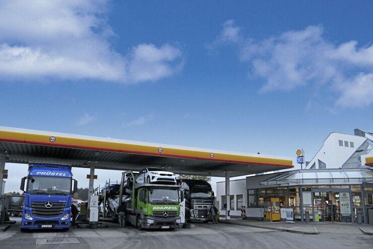 Autohof Ramstein, In dem Wat 1, 66877 Ramstein. Truckstop FF 3/2020.