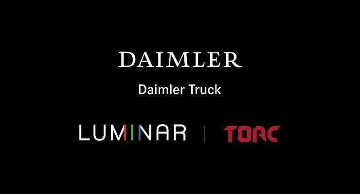 Autonomes Fahren: Daimler Trucks und Torc kooperieren mit Luminar - Daimler Trucks erwirbt Minderheitsbeteiligung an LuminarDaimler Trucks and Torc partner with Luminar to enable automated trucking – Daimler Trucks acquires minority stake in Luminar