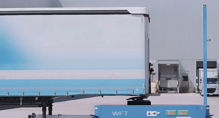 Autotrailer, autonomer Lkw-Anhänger