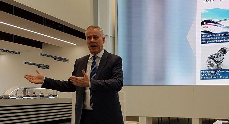 Bernd Eulitz, Vorstandsvorsitzender von Knorr-Bremse