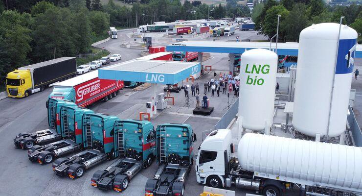 Bio-LNG bei Gruber Logistics
