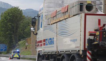 Blockabfertigung Lkw Kieferfelden Österreich