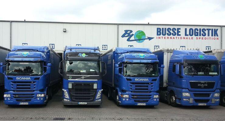 Busse Logistik verfügt über eine eigene Fahrzeugflotte.