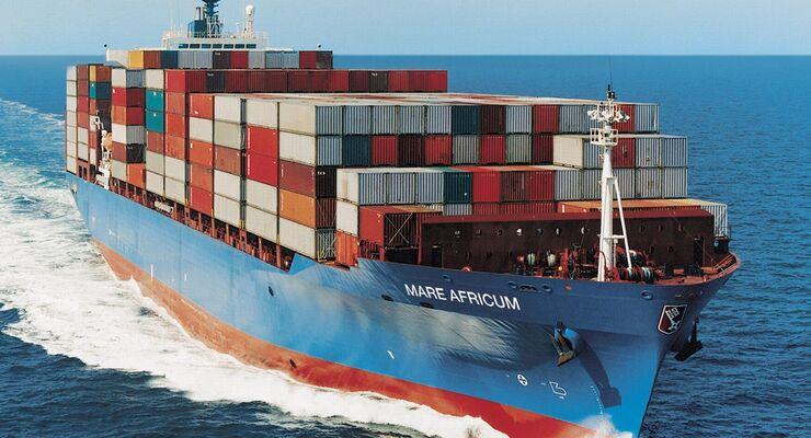 Containerschiff, Hochsee, Schifffahrt, Meer, Handelsschiff