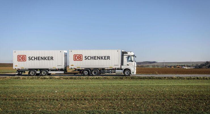 DB Schenker, Lkw, Landverkehr