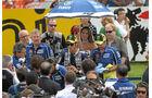 Das Werksteam von Valentino Rossi, im Mittelpunkt, Yamaha