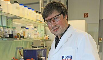 David Kaiser, Leiter der Forschung und Entwicklung und Anwendungstechnik bei Liqui Moly.