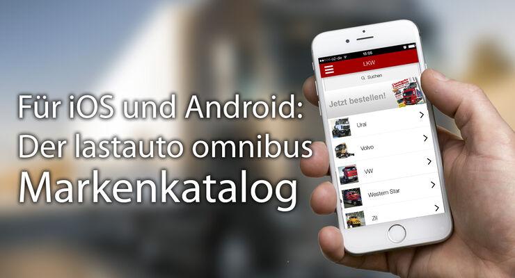 Den Markenkatalog aus dem Nutzfahrzeug-Jahrbuch von lastauto omnibus gibt es jetzt kostenlos in einer App.