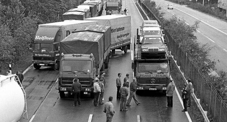 Der große Fahrerstreik, Beißner, Mercedes, Autobahn