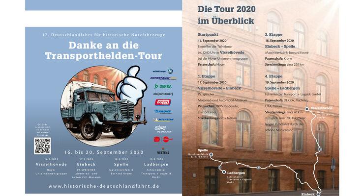 Deutschlandfahrt 2020 Danke an die Transporthelden-Tour