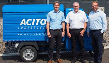 Die Actio-Geschäftsführer Ralf Albrecht, Dietmar Kutta und Francesco Grieco (von links).