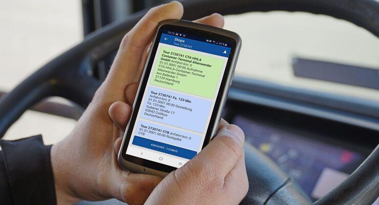 Die Fahrer-App cs Drive von Cargo Support