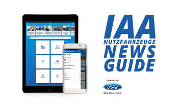 Die IAA News Guide App des ETM Verlags wird präsentiert von Ford