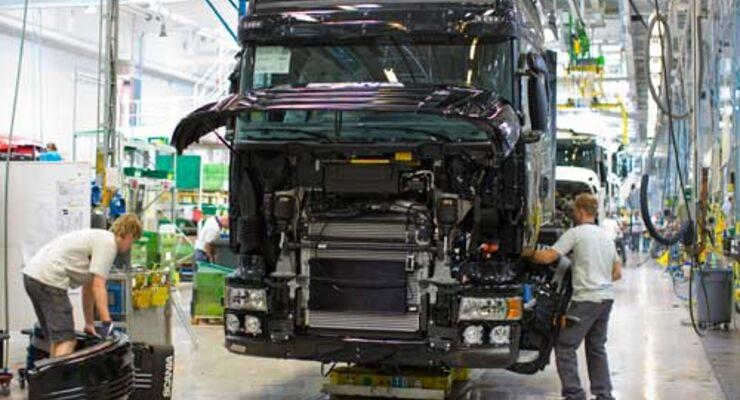 Die Lkw von Scania sollen umwelfreundlich laufen und um die Hälfte weniger CO2 ausstoßen.
