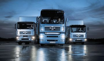Die MAN Trucknology Generation® ist komplett! Links MAN TGM - mitte MAN TGA - rechts MAN TGL <p><p>The MAN Trucknology Generation® is complete! Left: MAN TGM - centre: MAN TGA - right: MAN TGL.