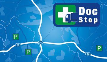 DocStop-Standorte als POIs auf der Karte von TimoCom