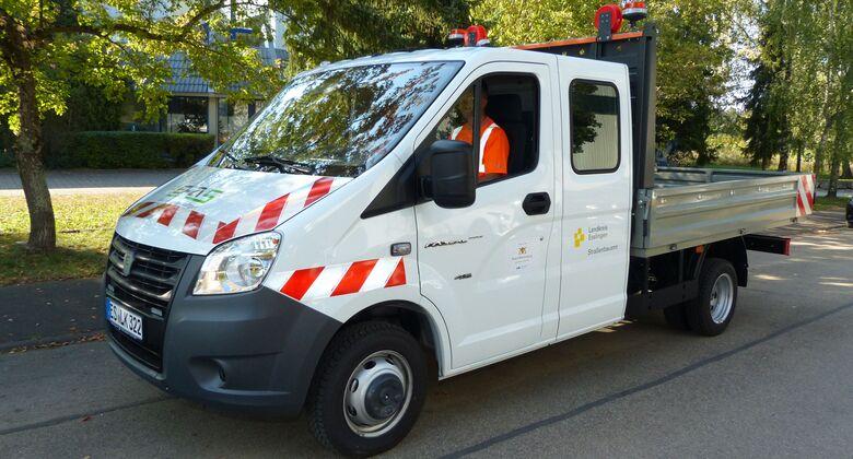 EFA-S, EFA-S 46DK, Straßenmeisterei Esslingen, Brennstoffzelle, Brennstoffzellenfahrzeug, Landkreis Esslingen, Transporter, Doppelkabine, Pritsche