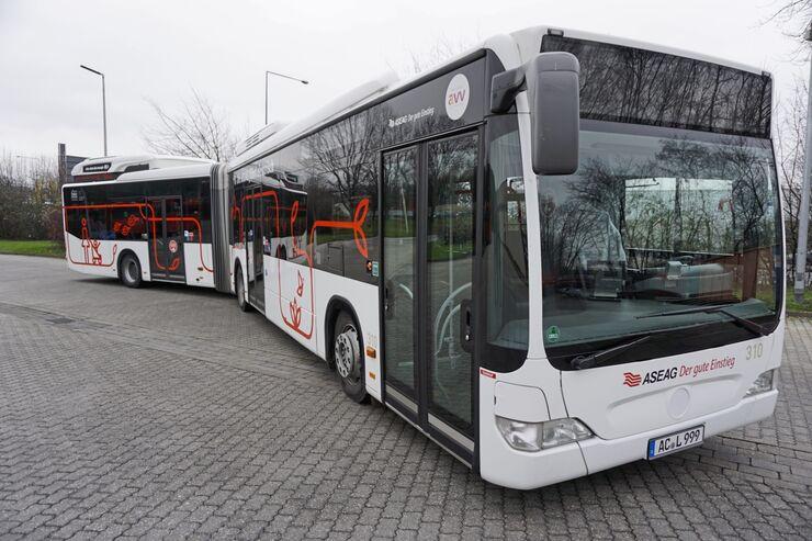 Elektroantrieb Gelenkbus