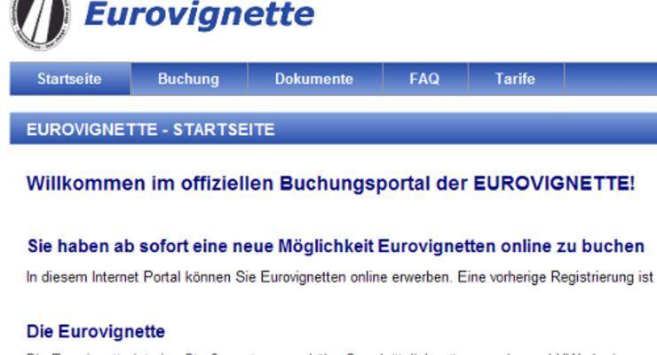 Eurovignette online buchen