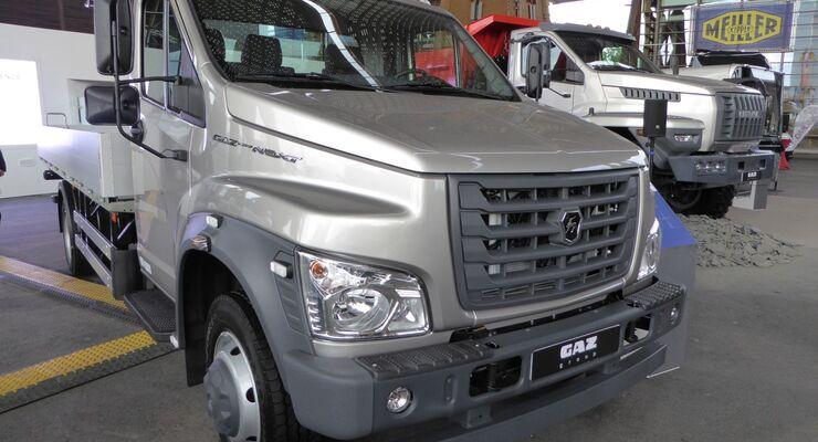 GAZ, Russlands größter Nutzfahrzeughersteller, präsentiert sich auf der IAA erstmals mit seiner Flotte von leichten Nutzfahrzeugen und Bussen.