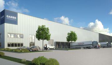 Garbe-Logistikzentrum für Rudolph Logistik in Rheinberg