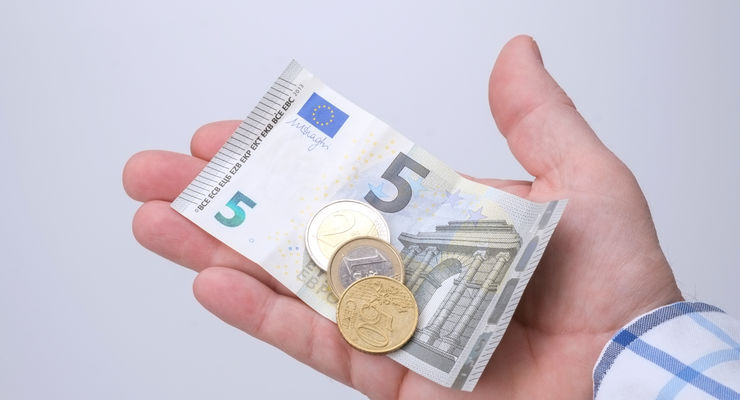 Geld Münzen Scheine