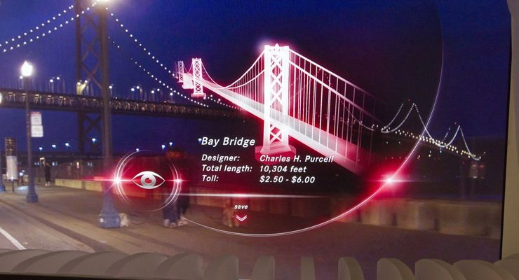 Head-up-Display, Daimler, Golden Gate Bridge