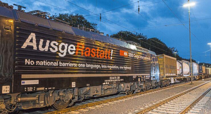 Hupac mit SBB Cargo Rastatt-Lok