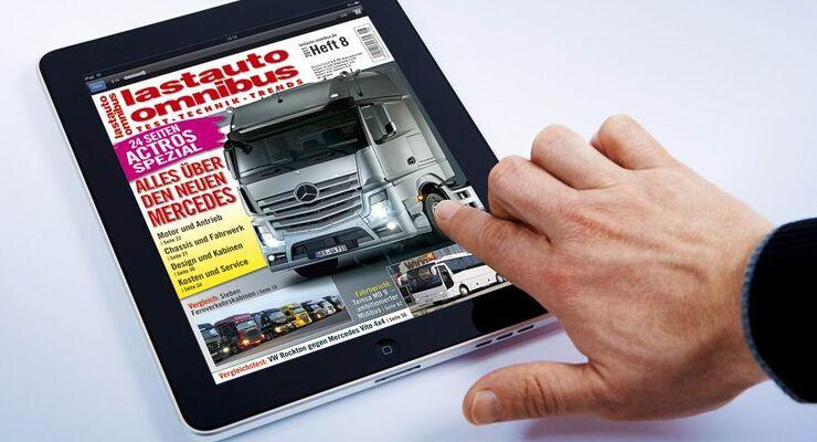 Ipad-App, lastauto omnibus, Ausgabe 8/2011