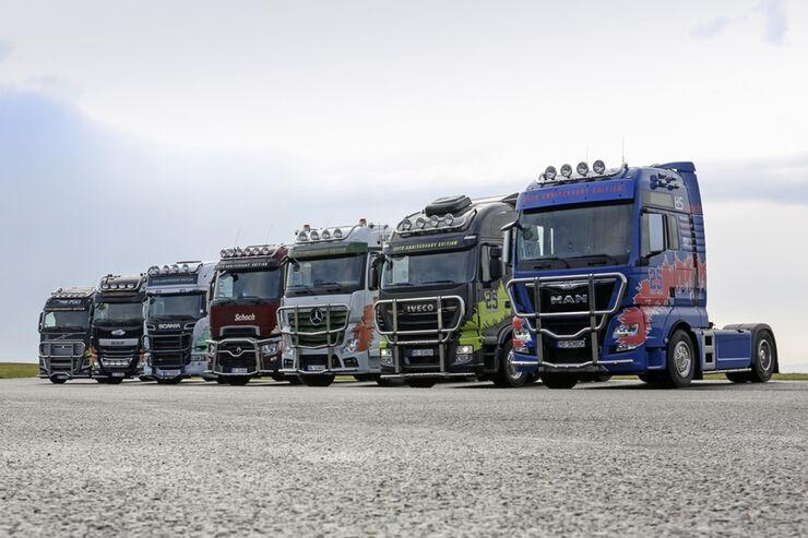 LKW-Zubehör Truckstyling für DAF, Iveco, MAN, Mercedes-Benz, Renault, Scania und Volvo