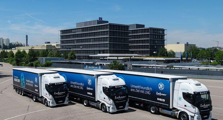 Lakner fährt mit LNG-Lkw von Iveco für ZF.