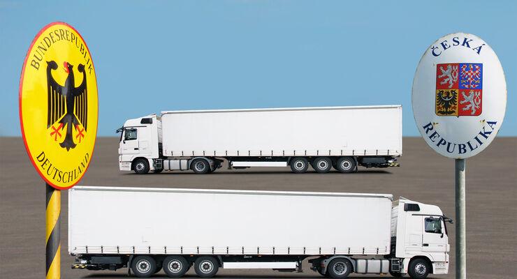Lkw-Grenzverkehre zwischen Deutschland und Tschechien