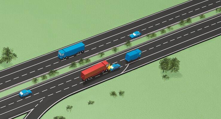 Lkw-Unfälle nehmen wieder zu.