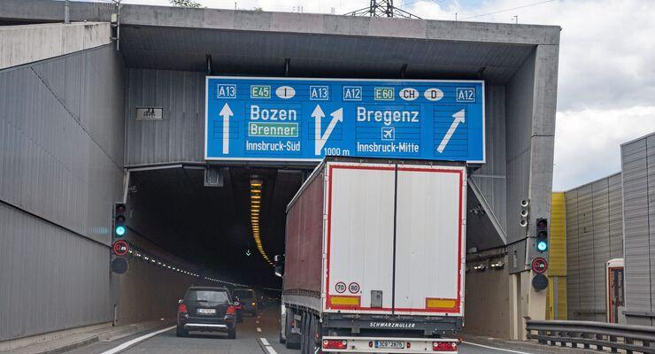 Lkw auf dem Brenner