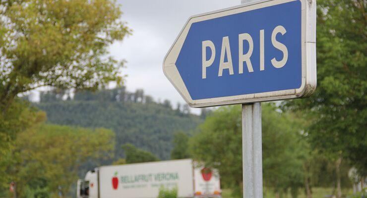 Lkw unterwegs in Frankreich