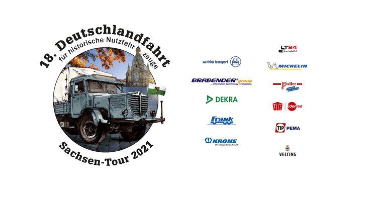 Logo D-Fahrt und Sponsorenlogos