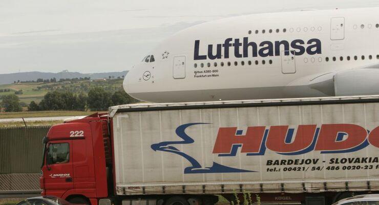Luftfracht, Airbus A380, Lkw