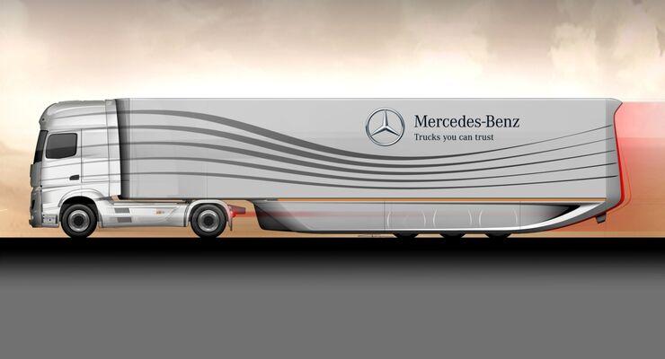 Mercedes-Benz Aerotrailer Aerodynamik Studie