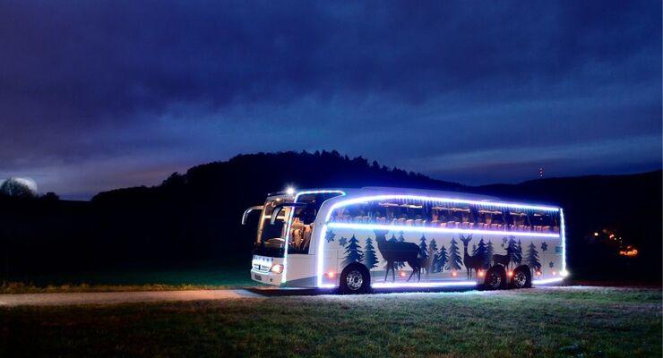 Mercedes-Benz Travego: Winterzauber auf drei Achsen
