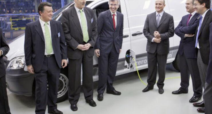 Mercedes-Benz Vito E-Cell fährt in Spanien