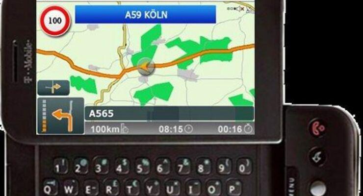 Mobile Navigation für T-Mobile G1 und G2 Touch