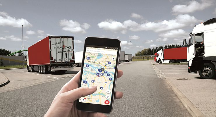 Neue Kravag Truck Parking App